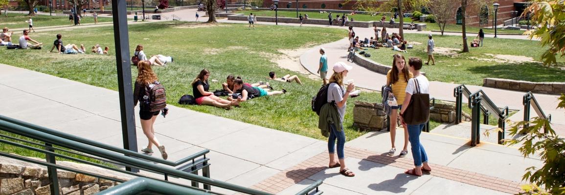 students at Sanford Mall