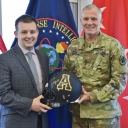 Lt. Gen. Robert P. Ashley, Jr. the Director of the Defense Intelligence Agency and Nicholas Anderson, CIS Student