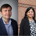 Dr. Joseph Cazier and Dr. Lakshmi Iyer win professorships